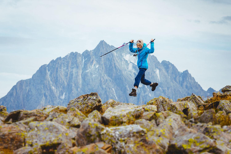 В горах без тяжёлого рюкзака