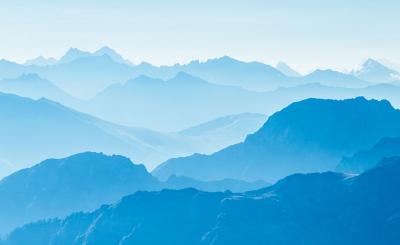 Волны горных хребтов
