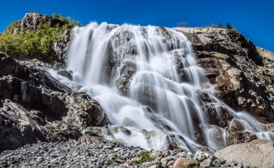 Алибекский водопад в Домбае