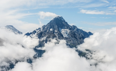 Гора Пшиш в облаках